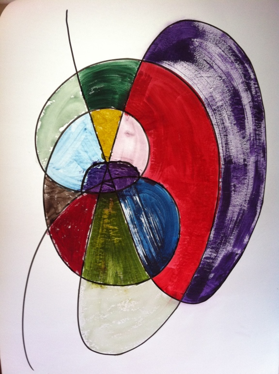 Colour Exercise - Gouache & Marker Pen on A1 Tracing Paper