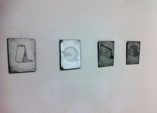 (left to right) Matrix VST035, Matrix 250s, Matrix 15-r110na, Matrix LS14 - Etchings on Zinc